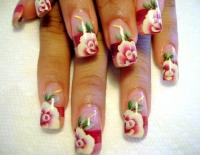 4 cách vẽ vườn hồng cổ tích lên móng
