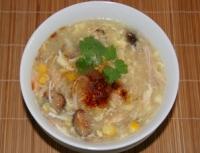 Soup cua nấm gà