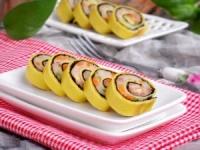Trứng cuộn tôm đẹp mắt ngon miệng như sushi