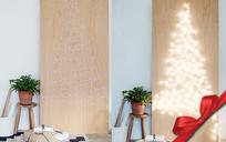 Giáng sinh cho nhà chật: Làm cây thông phát sáng chỉ với 3 thứ