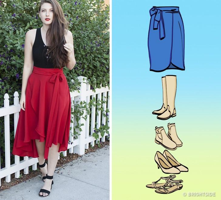 Cách kết hợp giày với 7 loại chân váy cơ bản