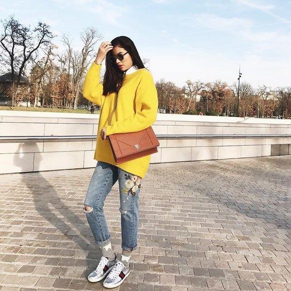 3 cách mix quần jeans cực sành điệu cho các nàng công sở diện đi làm những ngày đông giá lạnh