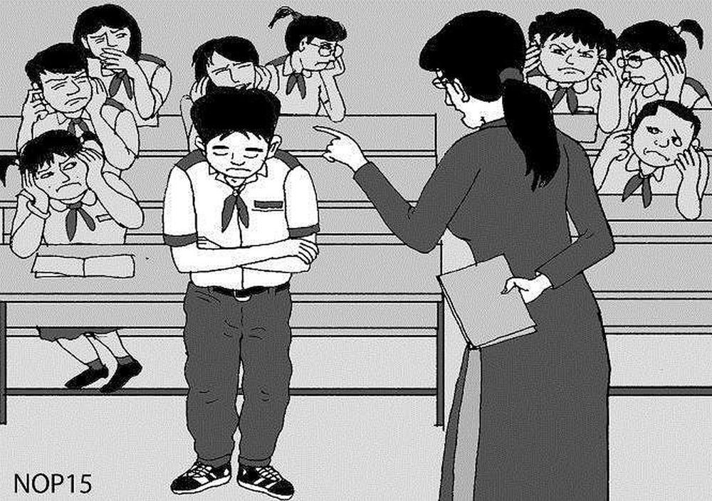 Sợ cô giáo kiểm điểm khi phát hiện quay cóp bài
