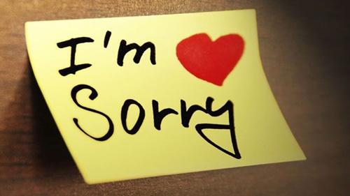 Học cách nhận lỗi không phải điều xấu