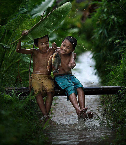 Cơn mưa rào trong miền ký ức tuổi thơ