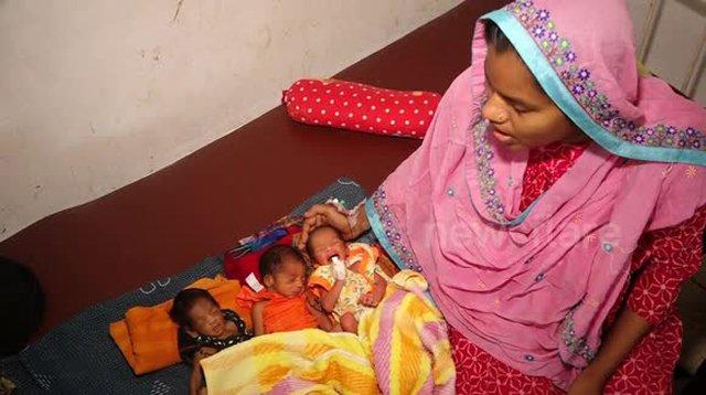 4 ca sinh hy hữu: Quan hệ lén lút, người mẹ sinh ba nhưng 3 con của 2 bố
