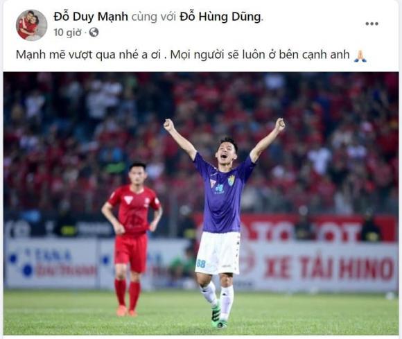Loạt sao Việt và cầu thủ động viên khi Hùng Dũng dính chấn thương kinh hoàng